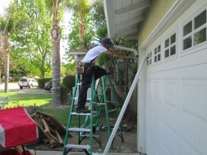 Rain Gutter Repairs on residential home