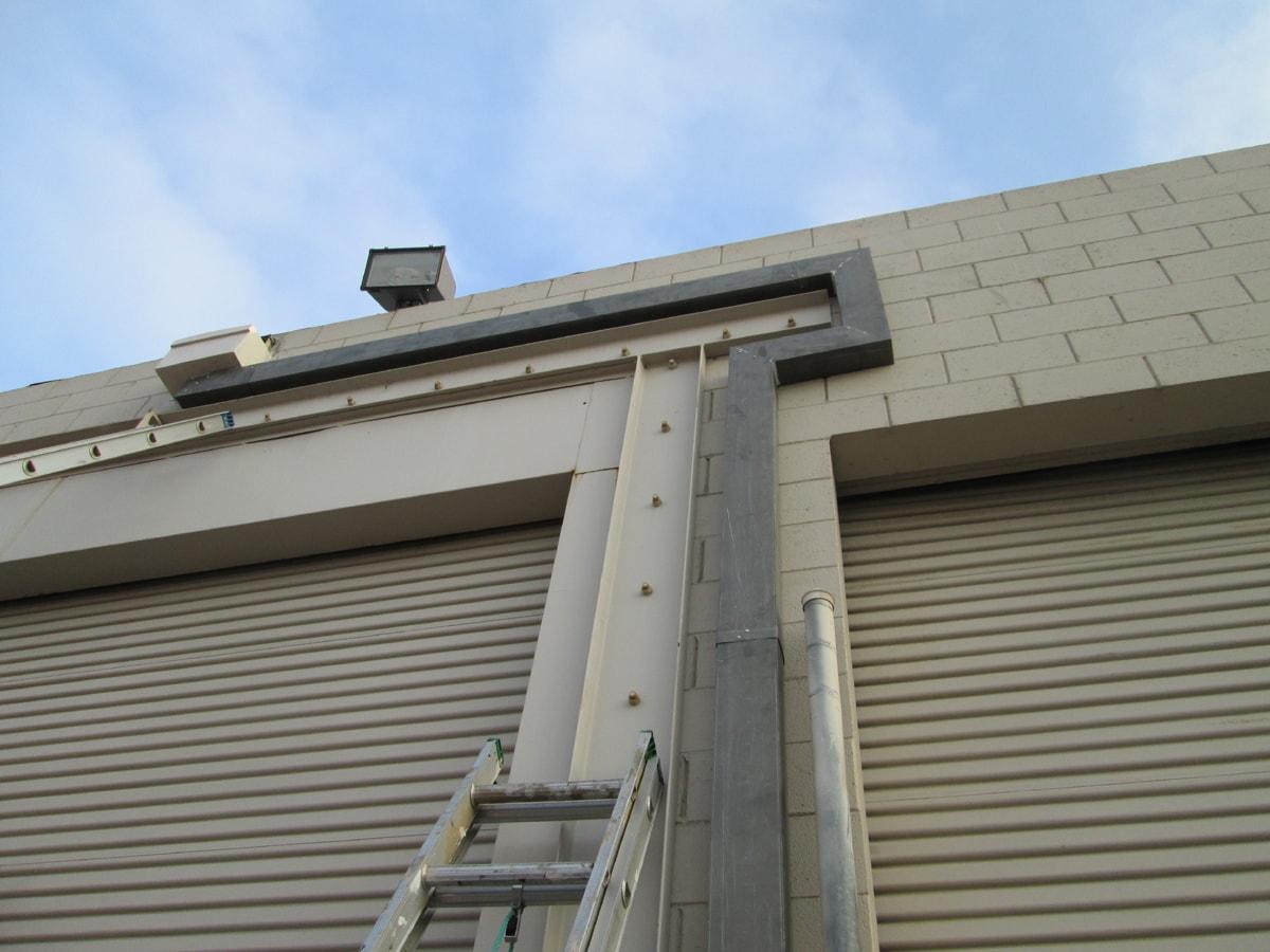 Custom industrial rain gutter system
