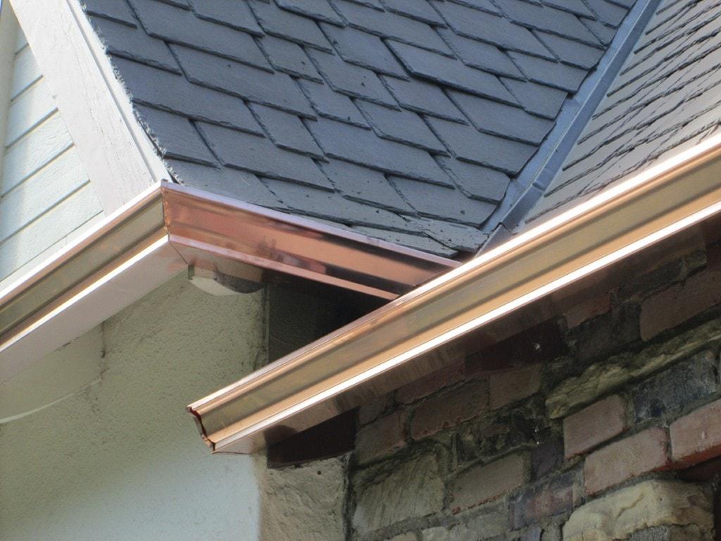"""pasadena - 5"""" OG (K-style) copper gutter"""