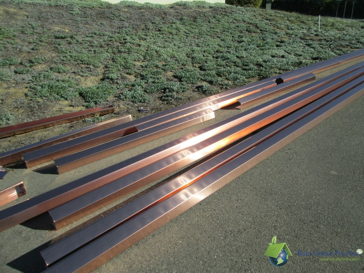 Copper Seamless Gutters Pre-Installation