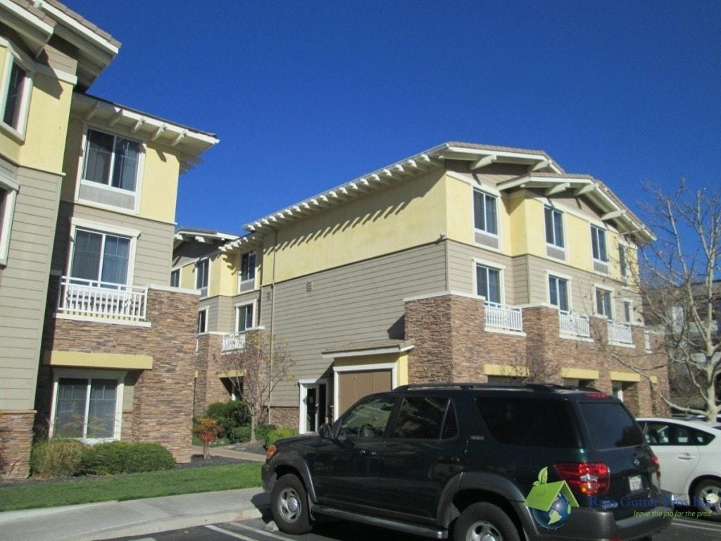 Gutter installation on commercial residential