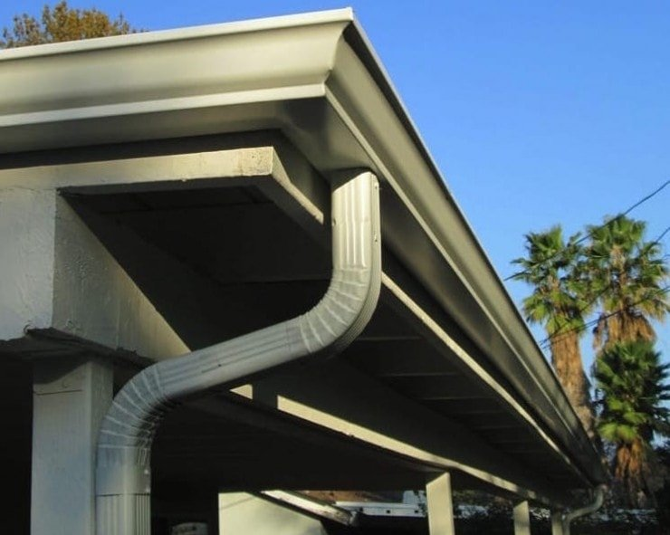 K-style white gutters image