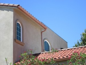 spanish colonial with copper half round gutters