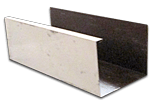 Aluminum K-style gutter Cross section