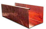 Copper K-style gutter Cross section