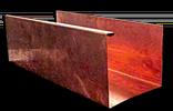 Copper K-style gutter Cross section