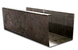 Galvanized Steel Rain Gutter Cross Section