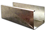 Stainless steel K-style gutter Cross section