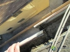 rain gutter in need of services