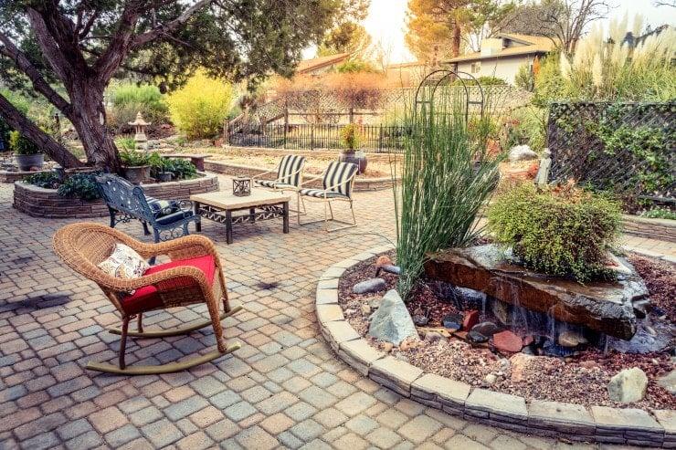 well tended california garden