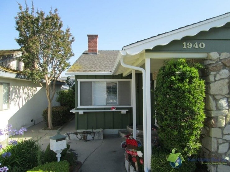 california bungalow with k-style gutters