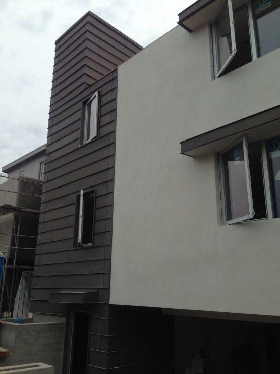 horizontal metal siding panels project