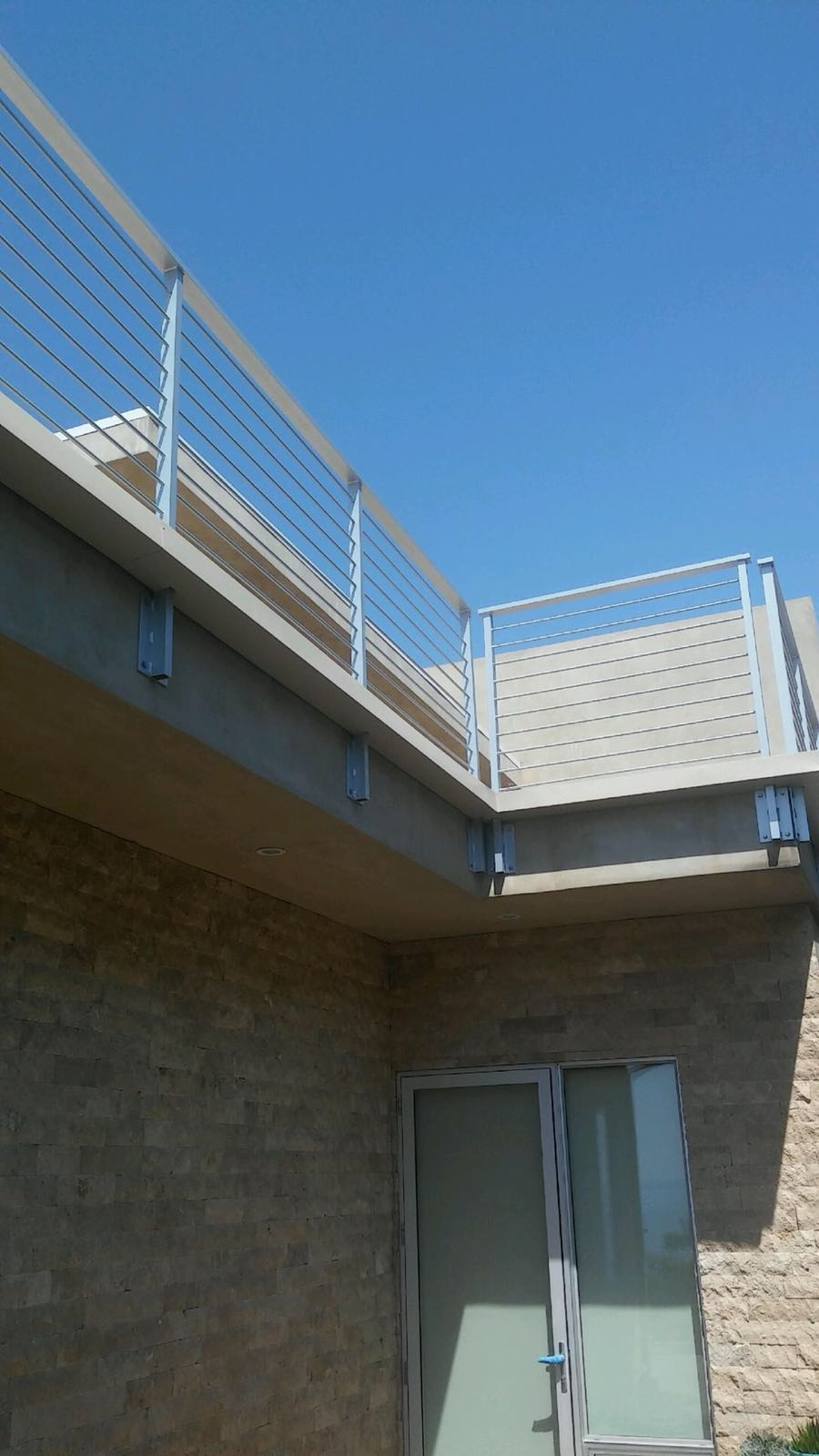 Custom Box Gutter Around Balcony Railing Rancho Palos