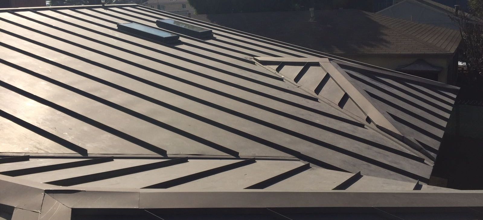 Standing Seam Metal Roof And Fascia Cover Bonderized