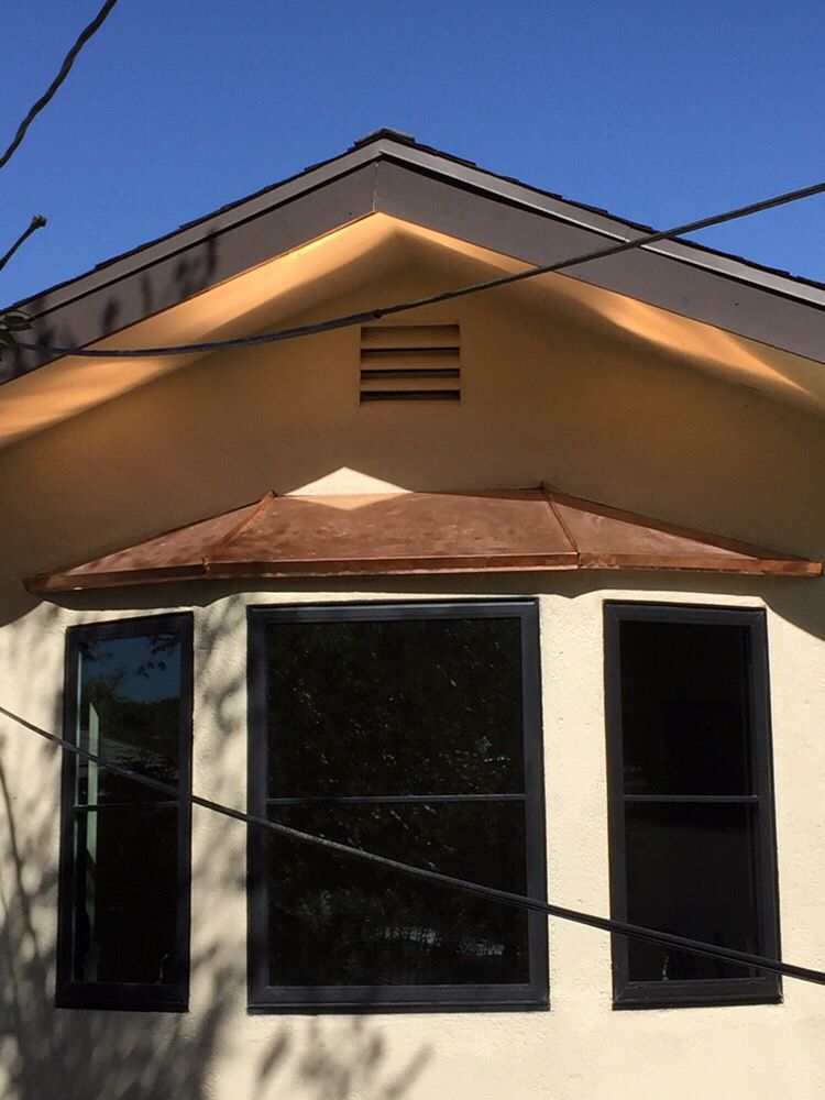 copper bay window roof installation completed